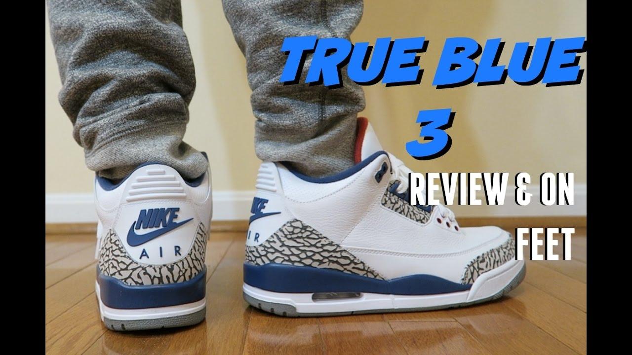 2016 Jordan True Blue 3 Review & On Feet