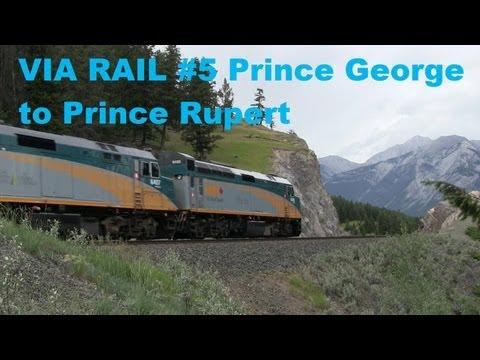VIA RAIL #5 Prince George BC to Prince Rupert BC [July 1 2013]