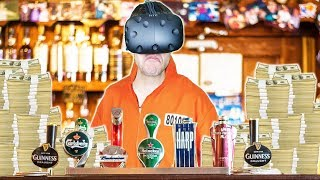 GETTING RICH BREWING AND BARTENDING IN VR PRISON! - Prison Boss VR HTC VIVE Gameplay