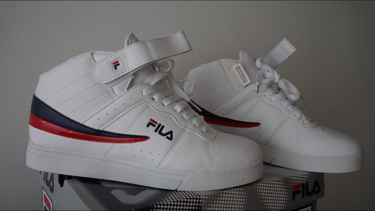 FILA white F13 Retro shoes - YouTube