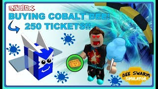 Roblox Bee Swarm Simulator | BUYING COBALT BEE 250 TICKETS!!