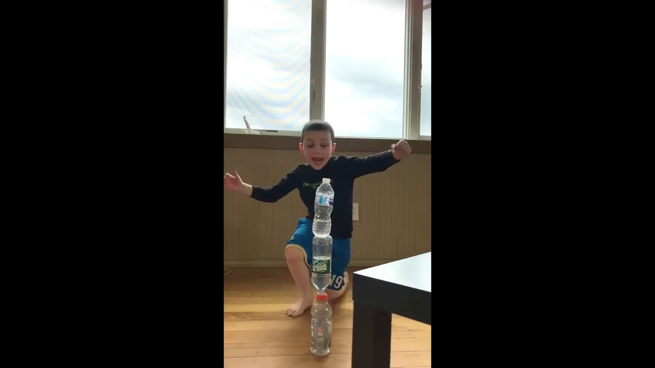 triple tower bottle flip
