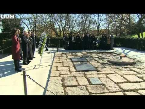 Obama Visits John F Kennedy Grave