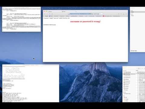 NoSQLAttack injection attacks demo