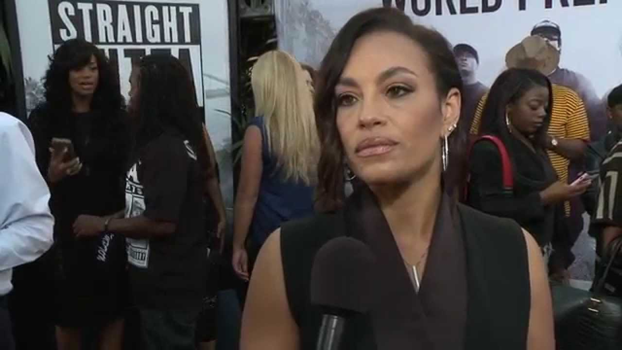 Straight outta compton tomika wright red carpet premiere interview youtube