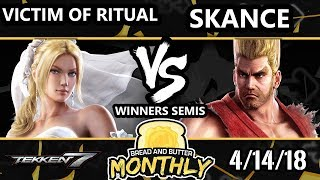 BnB 1 Tekken 7 - Victim of Ritual  (Nina) Vs. Skance (Paul, Lars) - T7 Winners Semis