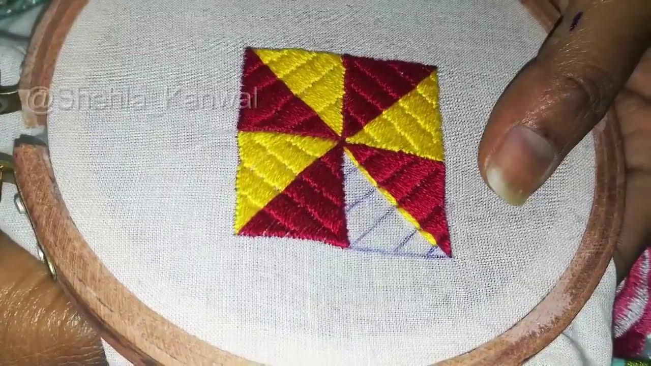 latest phulkari stitch hand embroidery   youtube
