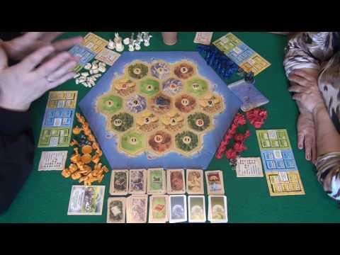Колонизаторы. Города и рыцари 1/2 часть - играем в настольную игру.