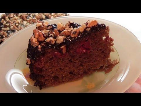 Шоколадный пирог в мультиварке с вишней рецепты с фото