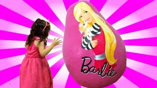 Barbie Life In The Dreamhouse + Secret Door Dolls Princess Toys in Egg + Giant Dreamhouse