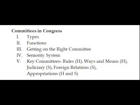 Unit 4 Committees in Congress