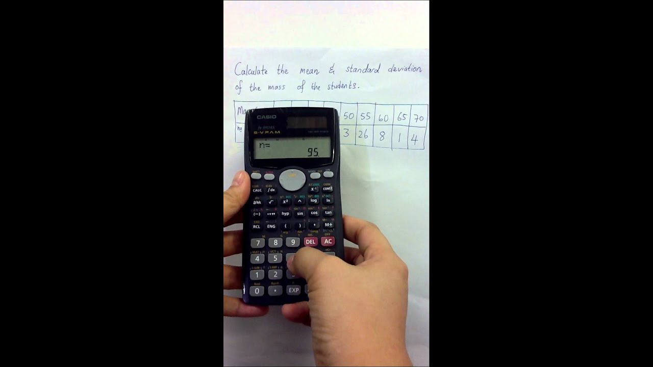 Casio Calculator Standard Deviation And Mean Of Data Youtube