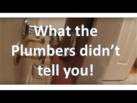 Pedestal Sink Installation: What the plumbers didn't tell you