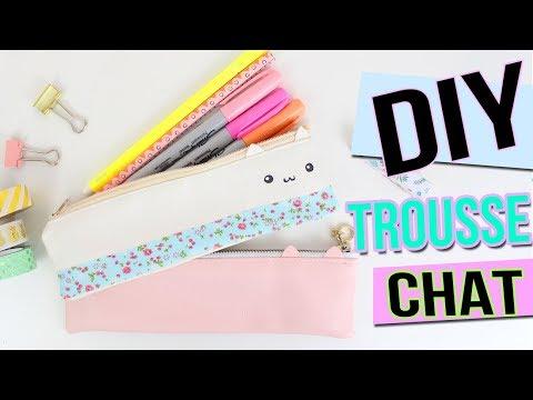 DIY BACK TO SCHOOL ┋ TROUSSE CHAT KAWAII OU PAS cat pencil case francais facile