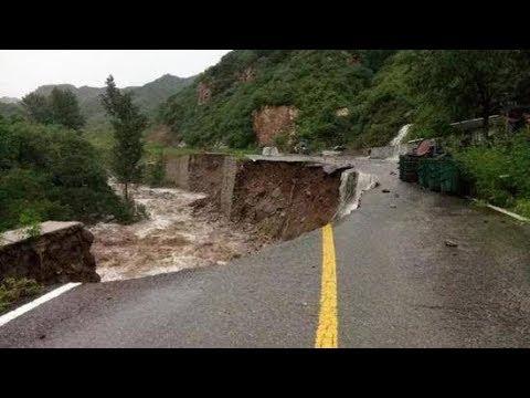 Heavy rain deluged parts of Beijing