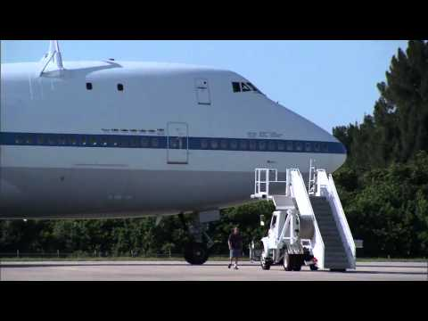 NASA Shuttle Carrier Aircraft Arrives at Kennedy Space Center