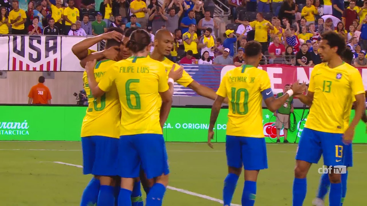 Confira os gols da vitória do Brasil por 2 a 0 contra os Estados Unidos a6a178f14ecc3