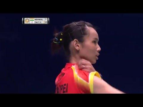 Celcom Axiata Malaysia Open 2016   Badminton SF M1-Match 1 – WS   Saina Nehwal vs Tai Tzu Ying