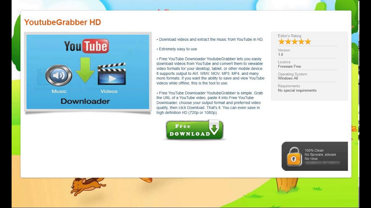 Download YouTube Grabber - FREE Download !!!