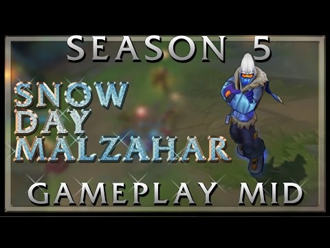Snow Day Malzahar Gameplay Mid - League of Legends