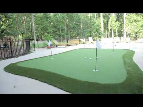 Dave Pelz GreenMaker putting green system - YouTube