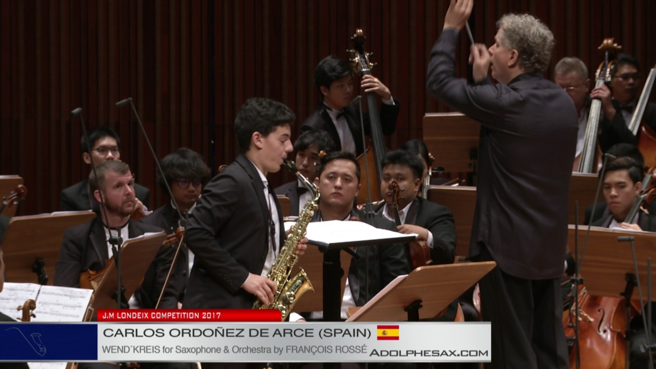 Londeix 2017   Final   Carlos Ordonez de Arce Spain  Wend'kreis for Saxophone and Orchestra by Franc