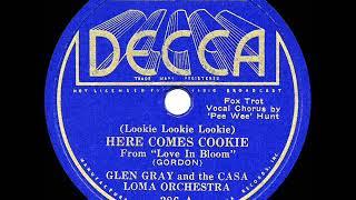 1935 HITS ARCHIVE: Lookie Lookie Lookie, Here Comes Cookie - Glen Gray Casa Loma (Pee Wee Hunt, voc)