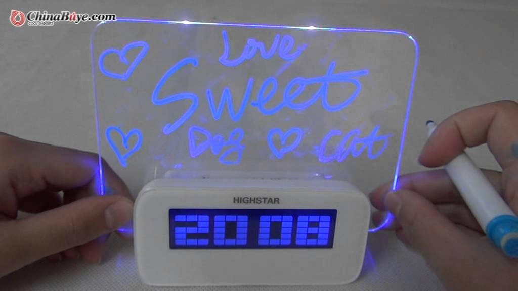 Highstar Usb Fluorescence Temperature Calendar Time Clock
