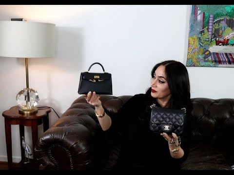 Hermes Kelly mini comparison with Chanel mini | Sabrina Shekofteh