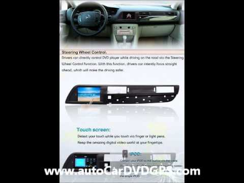citroen c5 radio dvd gps navigation stereo headunit autoradio youtube. Black Bedroom Furniture Sets. Home Design Ideas