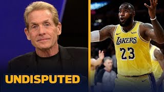 Skip Bayless gives LeBron a 'B-' for performance in the Lakers' win vs Rockets | NBA | UNDISPUTED