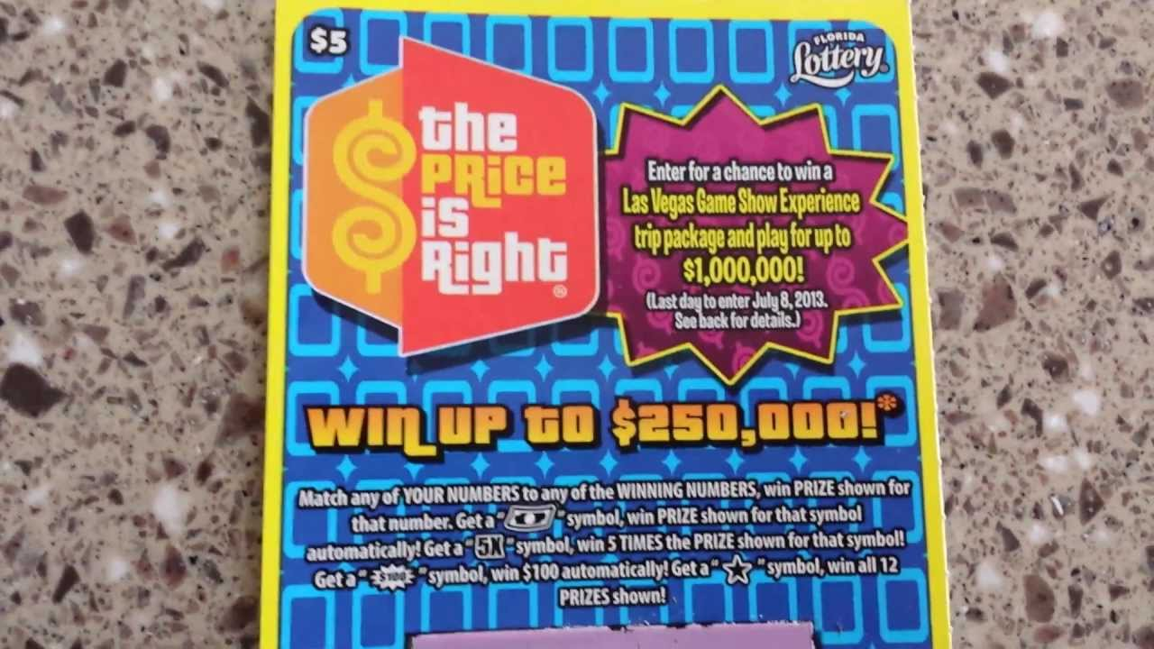 Winning Florida Lottery The Price Is Right Scratch Off Youtube