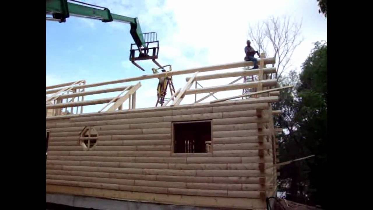 Log Home Purlin Roof Framing Of Ward Cedar Log Homes By