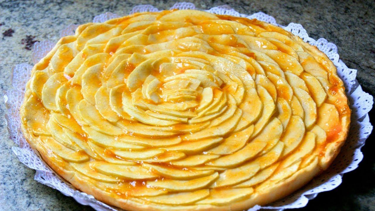 Tarta De Manzana Con Crema Pastelera Receta Clásica Youtube