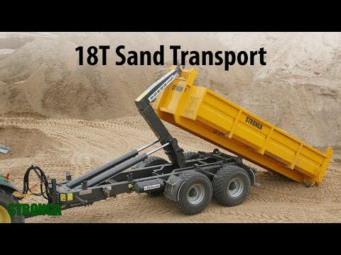 Stronga HookLoada HL180T trailer - Heavy-duty sand transport
