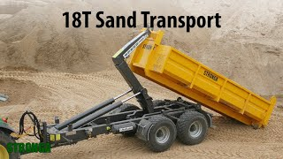 Stronga HookLoada HL180T trailer - Heavy-duty sand transport
