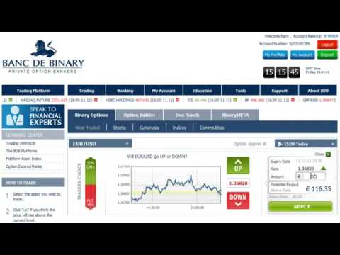 Banc de binary option builder