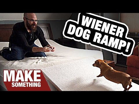 Making A Wiener Dog Ramp. Will He Use It? | Woodworking Project.