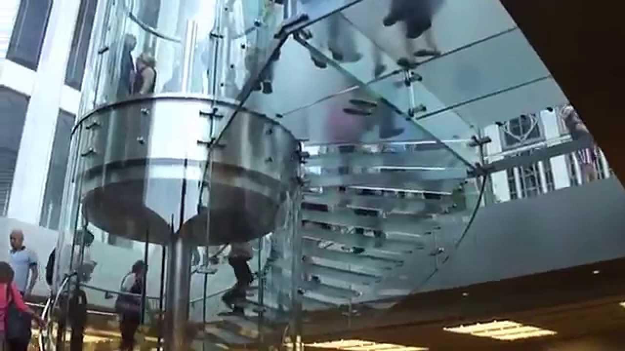 Escalera de vidrio en apple store 5ta avenida nueva york - Escaleras de vidrio ...