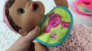 Zoe With Baby Alive Olivia Feeding