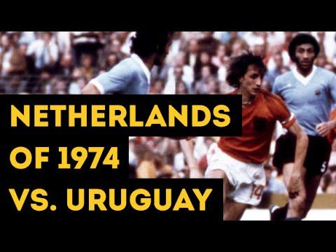 NETHERLANDS OF 1974 VS. URUGUAY   The hard pressing of Total Football