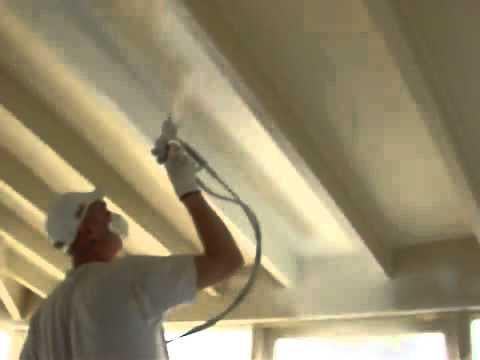 Wagner iberica aircoat airmix pintando techos pintura tectos youtube - Como pintar el techo ...