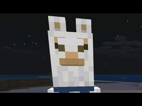 Bullying llamas in Minecraft