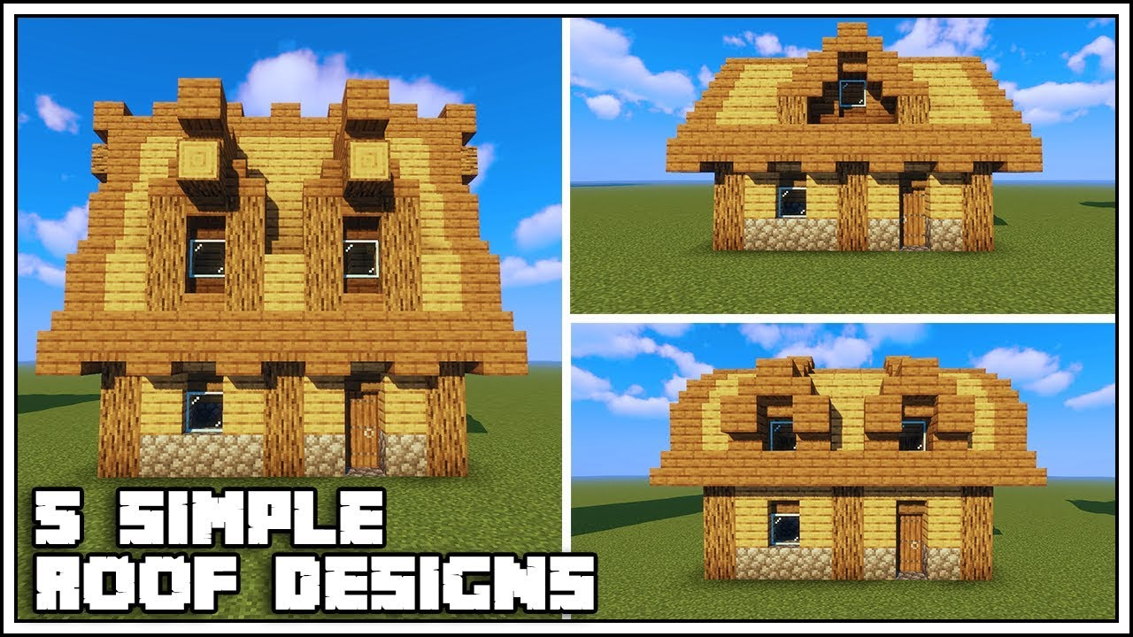 5 Simple Minecraft Roof Designs - YouTube