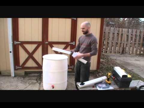 hook up rain barrel downspout
