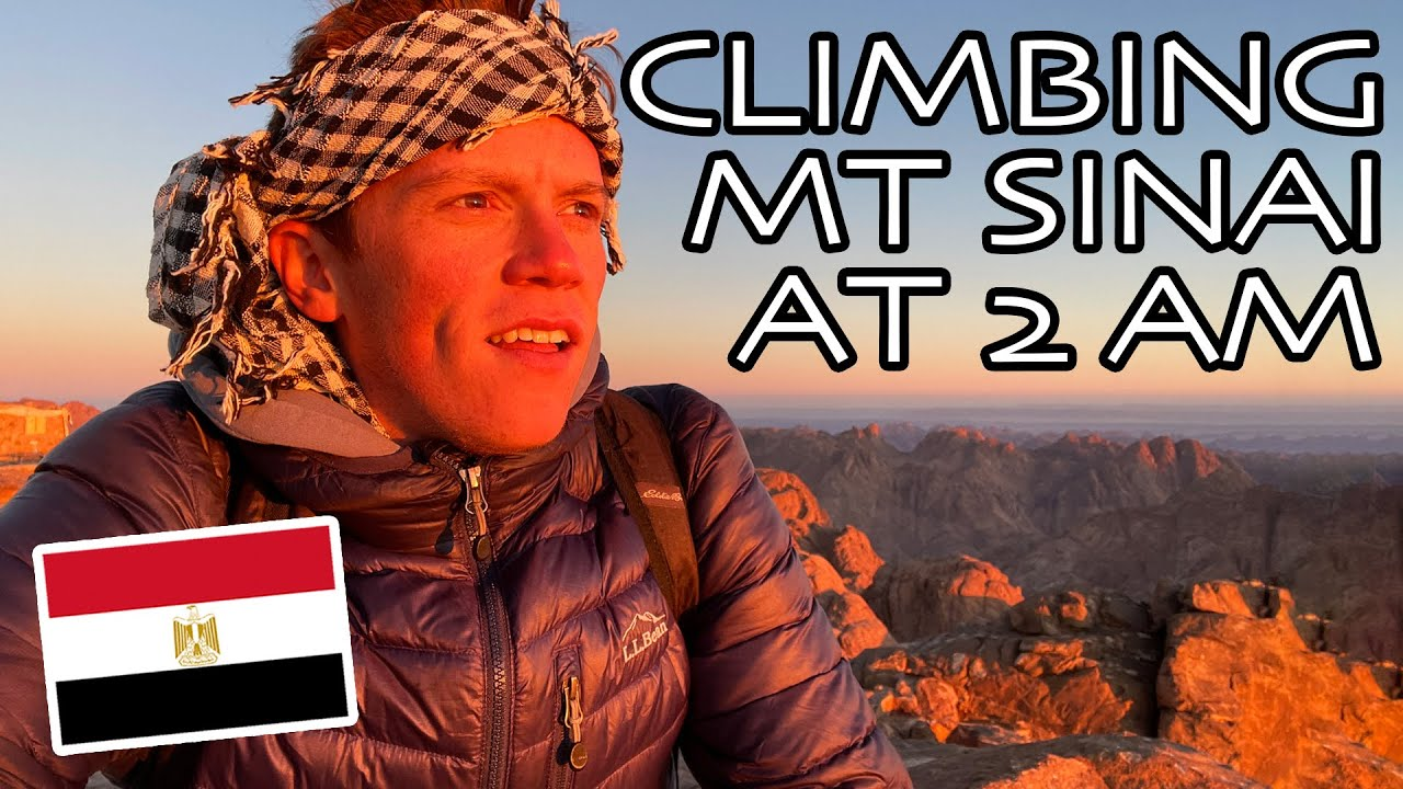 CLIMBING MOUNT SINAI AT 2 AM FOR INCREDIBLE SUNRISE   St. Catherine, Egypt سائح يتسلق جبل سيناء