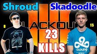 COD BO4 - Skadoodle & Shroud - 23 KILLS - THE GOD DUO! PALADIN