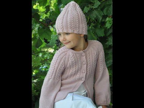 Вязание для девочек Кофты, пуловеры, жакеты - YouTube