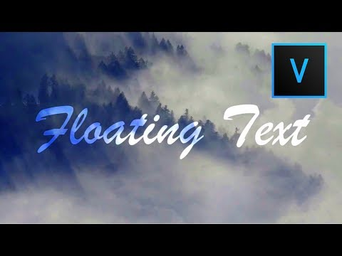 Floating Text Effect | Sony Vegas Pro 11-15 | Tutorial