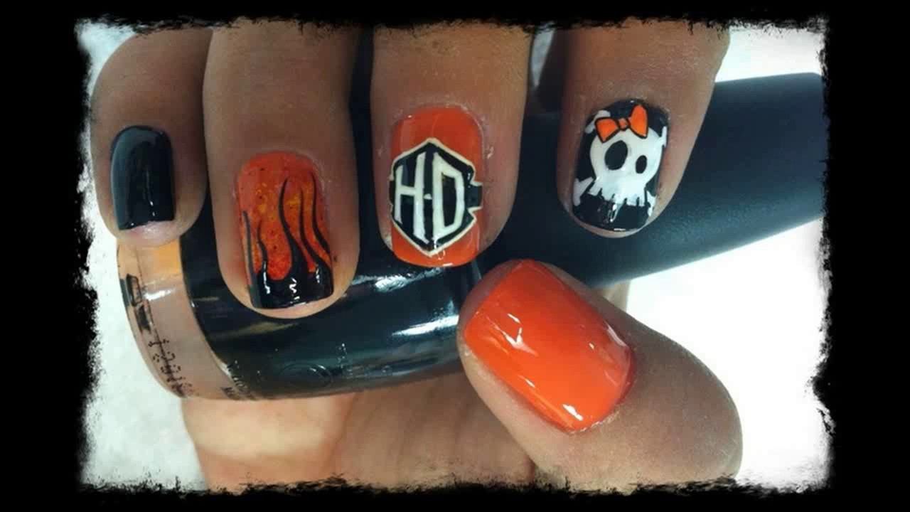 13 Ultra Cool Harley Davidson Nail Designs Pretty Designs - 13 Ultra Cool Harley Davidson Nail Designs Pretty Designs - YouTube
